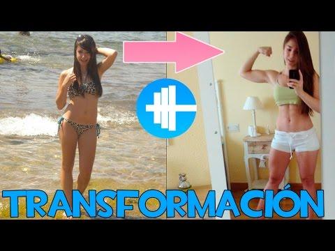 Antes y después chica gym