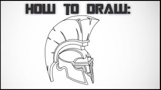 How To Draw a Spartan Helmet - Step By Step Drawing Tutorial