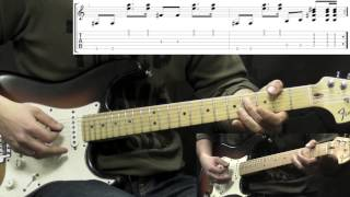 Jimi Hendrix - Foxy Lady - Rock Guitar Lesson (with Tabs)