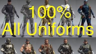 MGSV: Phantom Pain - All Snake Uniforms (100% Complete) Metal Gear Solid 5