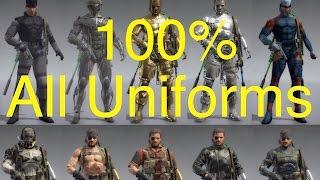 MGSV: Phantom Pain - All Snake Uniforms (100% Complete) Metal Gear Solid 5 Secrets: Part 56
