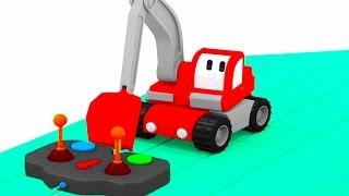 Le SOUS-MARIN avec TINY TRUCKS: bulldozer, grue, tractopelle | Dessin animé éducatif