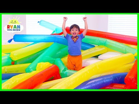 Xxx Mp4 Blowing Giant Windbag Science Experiment For Kids To Do At Home With Ryan ToysReview 3gp Sex