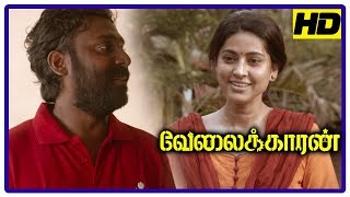 Velaikkaran Movie Scenes | Sivakarthikeyan feels guilty for Vijay's demise | Siva meets Sneha