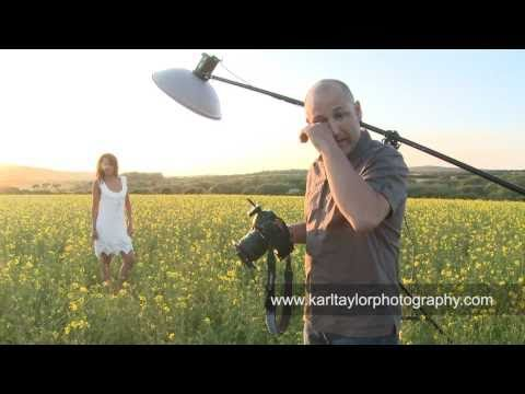 Sexy Fashion Shoot in a Field of Flowers Karl Taylor Photography
