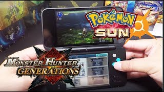 2DS XL un-boxing, Monster Hunter Generations and Pokemon Sun game play!