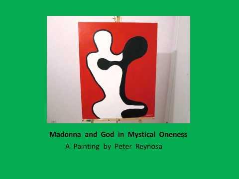 Painting of Madonna the singer practicing Kabbalah by Peter Reynosa