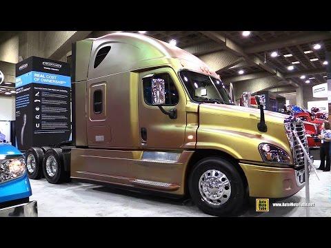 2015 Freightliner Cascadia Evolution Truck with Detroit DD15 14.8L 455hp Engine Walkaround