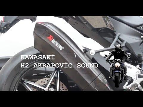 Kawasaki H2 Akrapovic Egzoz Sesi