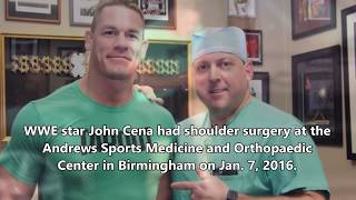 John Cena's Shoulder Surgery in Birmingham!