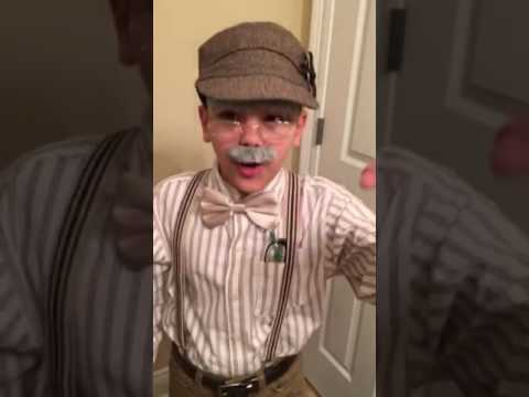 Old Man Costume for 100th day of school