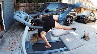 Getting Dressed on a Treadmill! (FAIL)