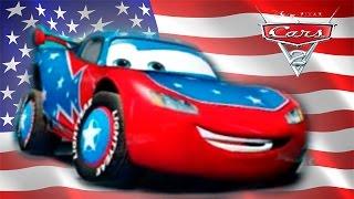 CARS 2 EN ESPAÑOL COCHES NUEVOS DEL JUEGO DE LA PELICULA DISNEY PIXAR: AMERICAN MCQUEEN USA