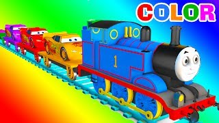 MCQUEEN Train COLOR for Babies - Learning Educational Video - Learn Cars 3D Superheroes for Kids
