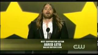 Jared Leto wins Best Supporting Actor Award @ Critics Choice