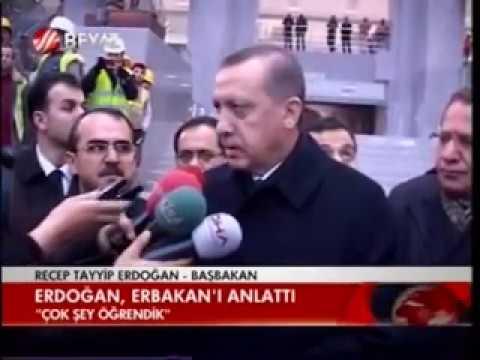 Necmettin Erbakan Milli Görüş Lideri Vefatı Sonrası BEYAZ TV 0010 ERDOĞAN ERBAKANı ANLATTı