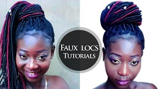 Easiest Way To Do Faux Locs With Brazilian Wool/Yarn (Crochet Braids Method)