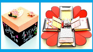 Explosion ( Exploding ) Box Card - DIY Paper Crafts - Birthday Anniversary Gift - Scrapbooking Idea