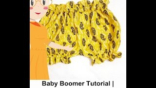 Baby Bloomer Tutorial | Cutting And Stitching Of Baby's Underwear - Tailoring With Usha