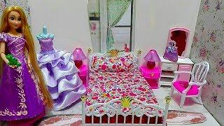 الاميرة ربانزل غرفة نوم العاب تلبيس البنات