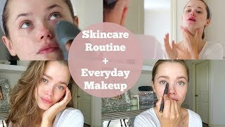 Skincare Routine | Everyday Makeup Tutorial 2017 | AD
