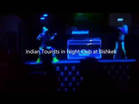 Indian Tourists in Night Club at Bishkek, Kyrgyzstan