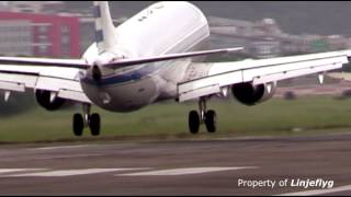 Little rough touch down of Taiwan Air Force One