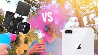 iPhone 8 Slow Motion vs $30,000 RED Camera