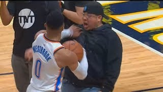 Russell Westbrook Shoves Fan and Almost Fights Him for Taunting Him After Losing! Thunder vs Nuggets