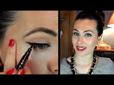 Delineado perfecto ojo de gato. Paso a paso por Lizy P ♥ Perfect cat eye eyeliner by Lizy P.