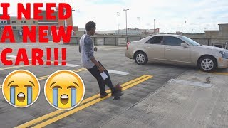 BLASTING FOOTBALLS AT MY CAR!!