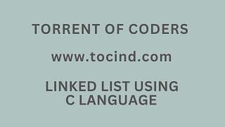 linked list using c