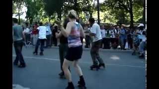 Central Park Skating Dancers PT-4  Me in the Rink Filming Friends !