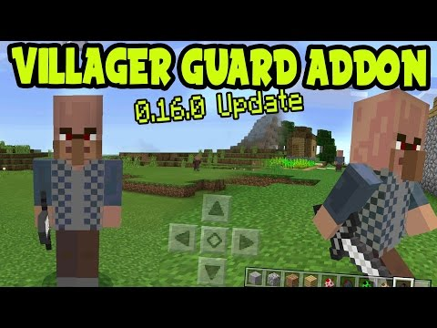 VILLAGER GUARD ADDON! MCPE GUARD ADDON and BEHAVIOR PACK! // MCPE 0.16.0 Minecraft Pocket Edition