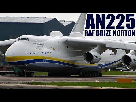 Xxx Mp4 Incredible World S Biggest Plane Antonov 225 Powerful Takeoff RAF Brize Norton UK With ATC 3gp Sex
