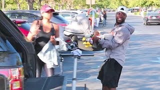 BACK ON TRACK! Kevin Hart And Wife Eniko Parrish Take Baby Kenzo Out In Calabasas