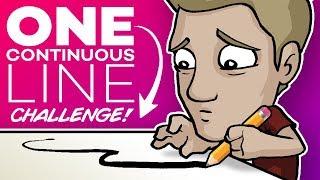 ONE LINE ART CHALLENGE! - 🚫DON