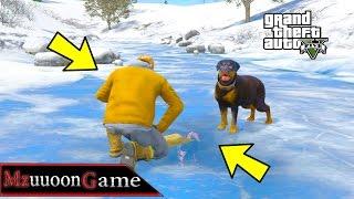 جبت الكلب لمدينة نورث الثلجية وش تتوقع حصل قراند GTA 5