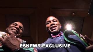 mike tyson and lennox lewis together one more time - if they fight again who wins? EsNews Boxing