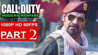 CALL OF DUTY MODERN WARFARE REMASTERED Gameplay Walkthrough Part 2 [1080p HD 60FPS] - No Commentary