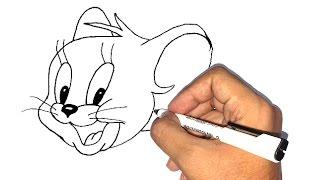 تعلم الرسم | كيف ترسم الفأر جيري من كارتون توم و جيري خطوة بخطوة للاطفال