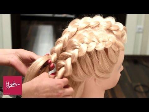 видео уроки плетения прически
