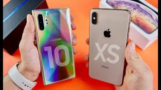 Samsung Galaxy Note 10 Plus vs iPhone XS Max Speed Test & Camera Comparison