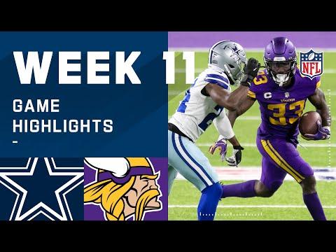 Cowboys vs. Vikings Week 11 Highlights NFL 2020