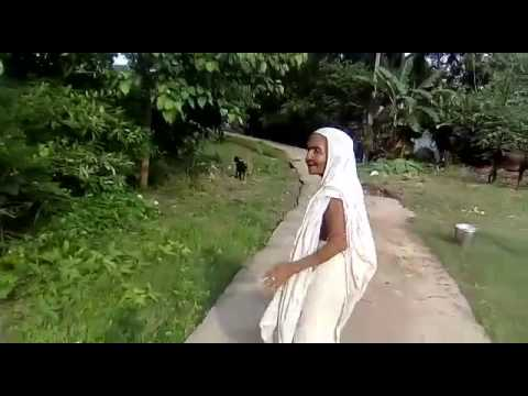 Indian village Angry 90 years old women