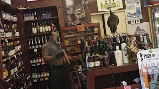 Spooked Bird Causes Liquor Store Smashup