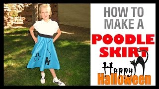 HOW TO MAKE A POODLE SKIRT - 1950'S HALLOWEEN COSTUME