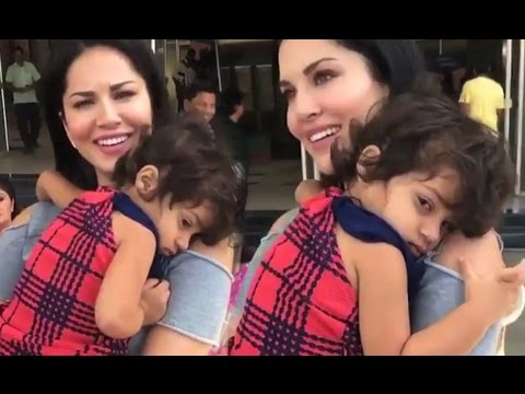 Small Kid Not Leaving Sunny Leone - Watch Video