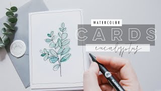 15 Minute Watercolor Cards | Eucalyptus Theme EP 4