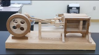 Physics of toys-wooden air engine // Homemade Science with Bruce Yeany